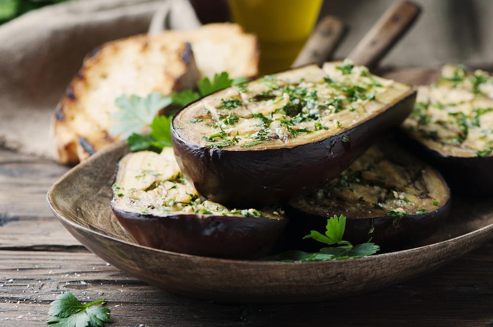 Traditional sardinian dish eggplant Alla sassarese
