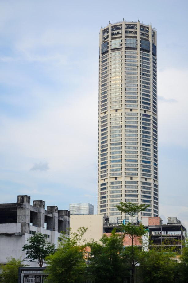 66-story Komtar Tower dominates the skyline of the city