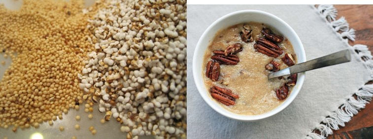 Amaranth popcorn and porridge