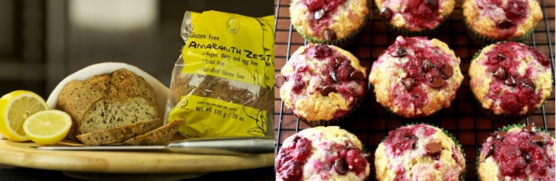 Amaranth zest bread and muffins