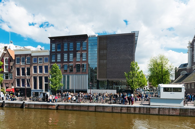 Anne Frank house and holocaust museum in Amsterdam