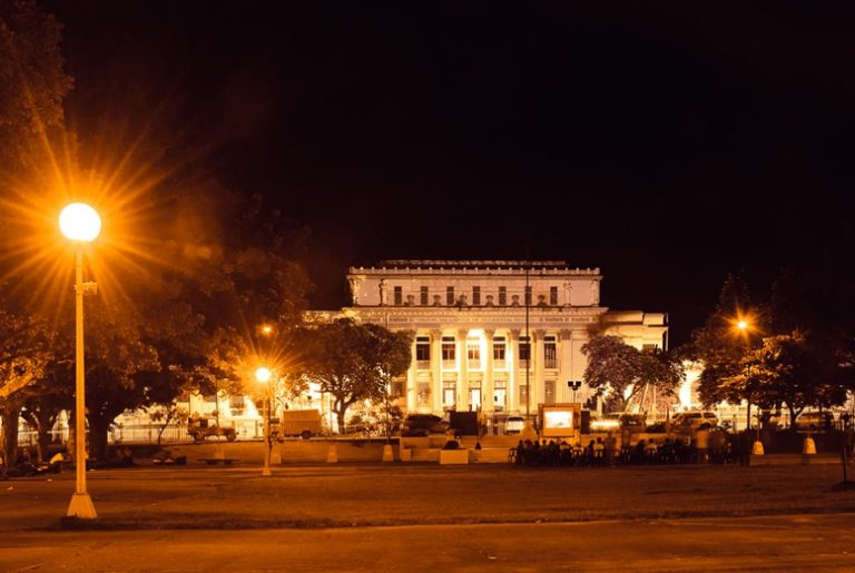 Bacolod City Capitol building at night