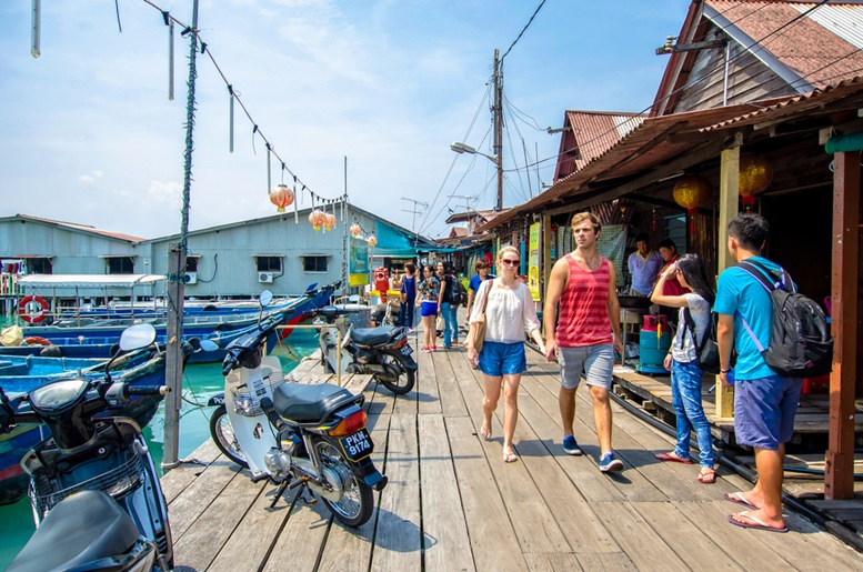 Chew Jetty which is one of the UNESCO World Heritage Site in Penang.