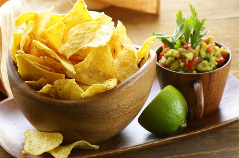 Corn tortillas chips