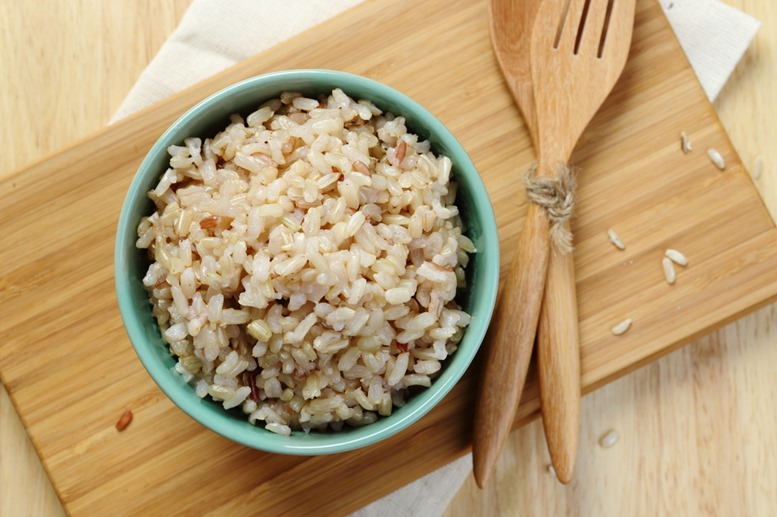Delicious Healthy Brown Rice (TOP VIEW)
