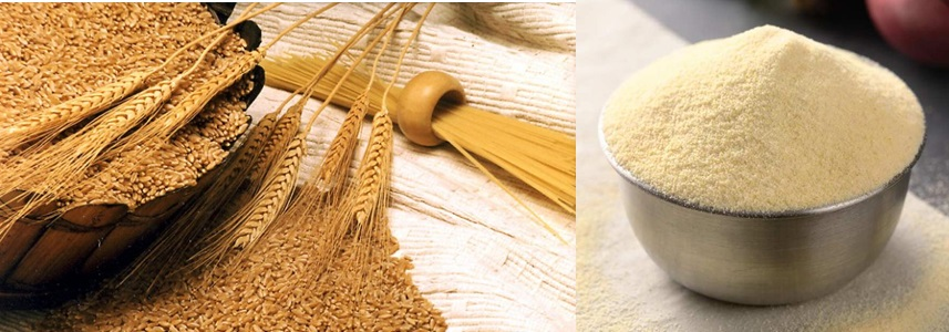 Durum wheat and semolina flour