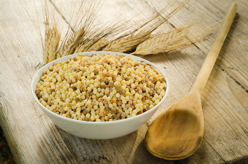 Durum wheat semolina, typical pasta from Sardinia, Italy