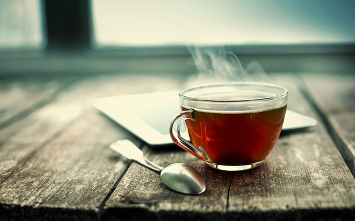Enjoy a cup of tea after meal