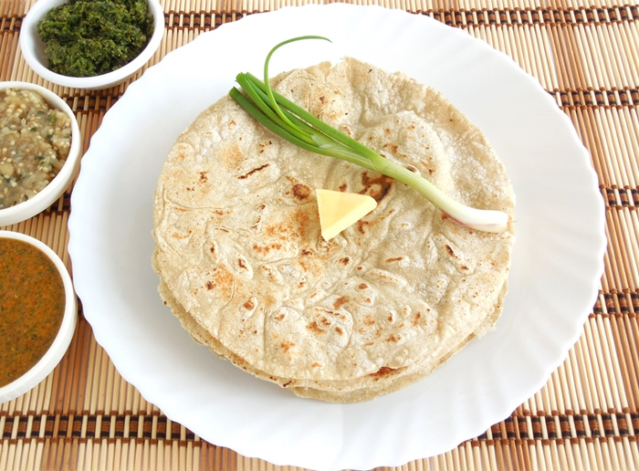 Flat bread made from sorghum flour.