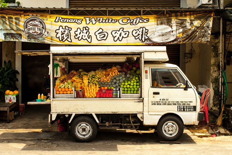 Food or Fruit truck in Georgetown, Malaysia