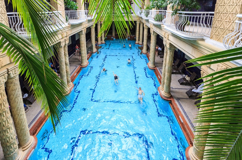 Gellert Thermal Bath, traditional Hungarian thermal bath complex with spa treatments.