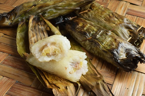 Grilled Banana, Wrapped in Sticky Rice