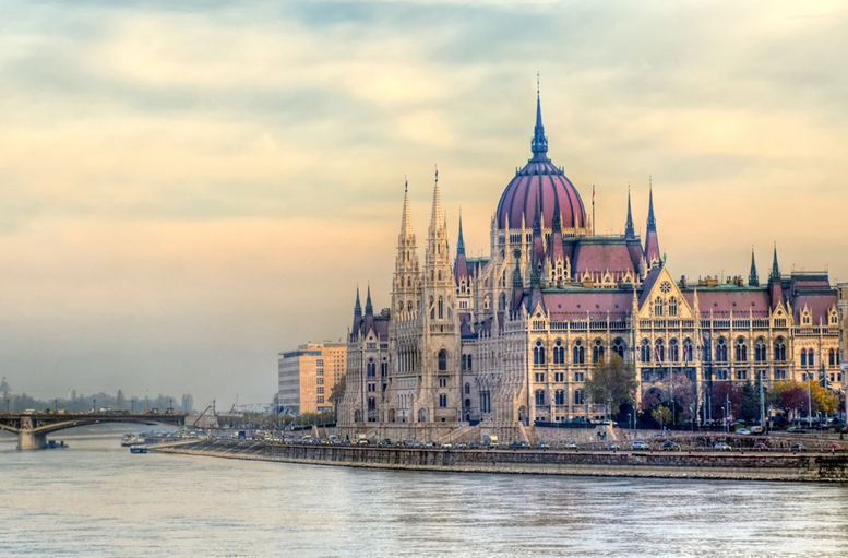 Hungarian Parliament building from afar