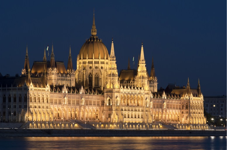 Hungarian parliament (night view)