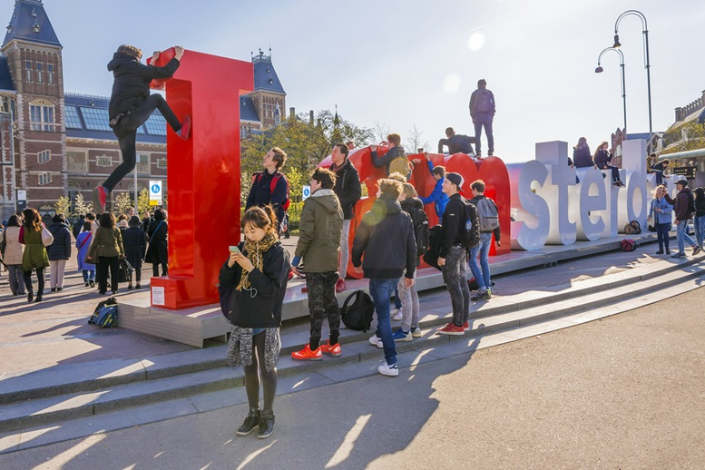 I AMsterdam Outisde of Rijksmuseum