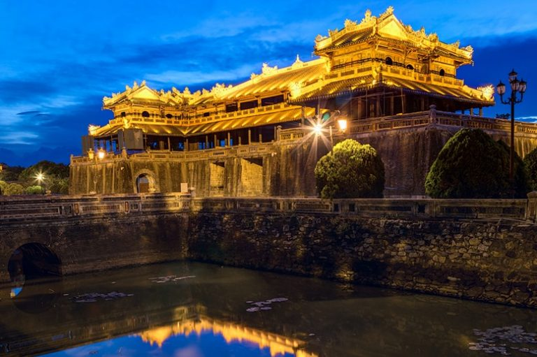 Imperial Royal Palace of Nguyen dynasty in Hue, Vietnam