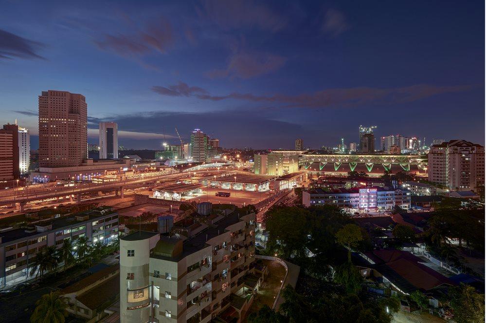 Johor Bahru city view from top during dusk - Johor Bahru, malaysia 2
