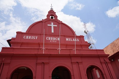 Malacca Christ Church or known as Red Building at Melaka, Malaysia.