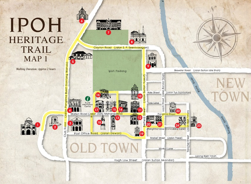 Map 1 of Ipoh-Heritage-Trail