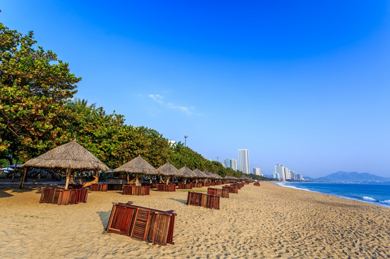 Morning in Nha Trang City Beach