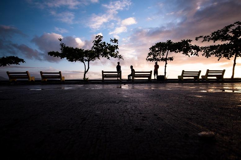 Morning walk at the sea port passenger terminal. Surigao, Philippines.
