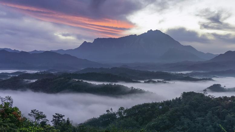 Mount Kinabalu view at Sabah Borneo East Malaysia