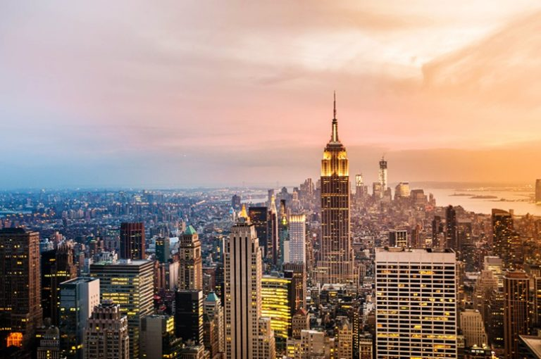 New York City Skyline (Sunset View)