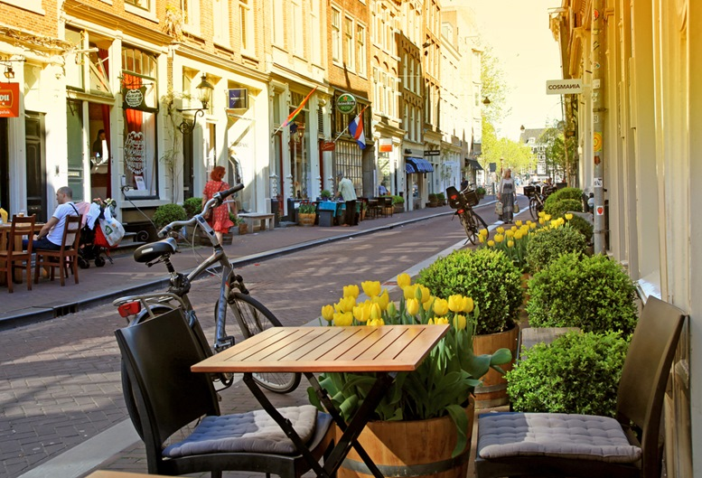 Nine Streets is a special neighbourhood filled with full of vintage and designer shopping, speciality stores and cozy cafes