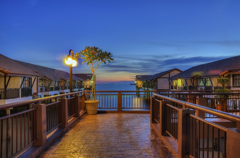 Peaceful evening at over water resort in Port Dickson, Malaysia