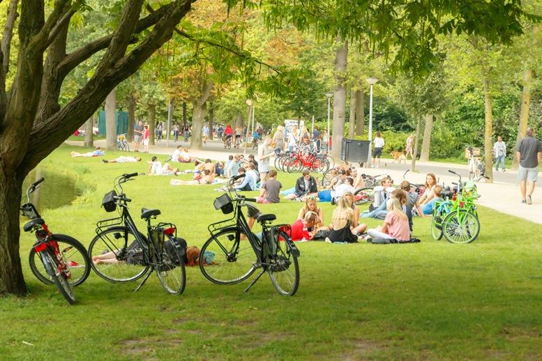 Relaxing at Vondel Park