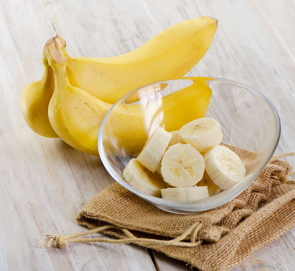 Sliced Banana in a bowl