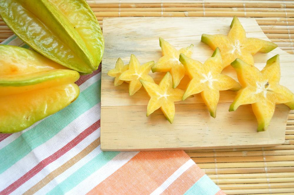Starfruits on Chopping Board