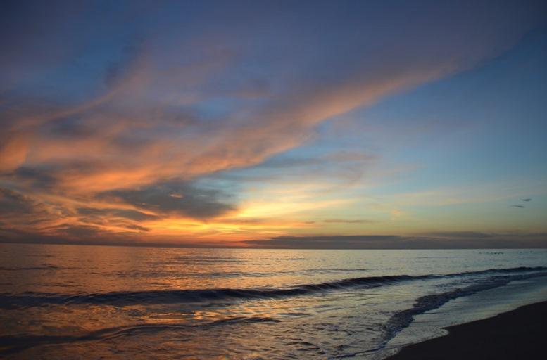 Sunrise on Thuan An beach, hue, Vietnam