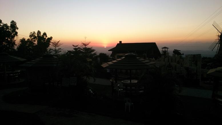 Sunset at Campuestohan Highland Resort