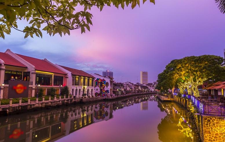 Sunset in Malacca