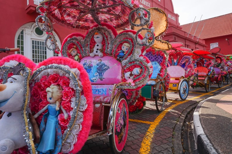 The Historical City of Malacca. Beca (trishaw) Bella