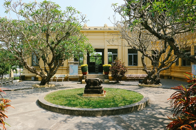 The courtyard of Museum of Cham Sculpture, which houses the largest collection of Cham sculptures in the world.