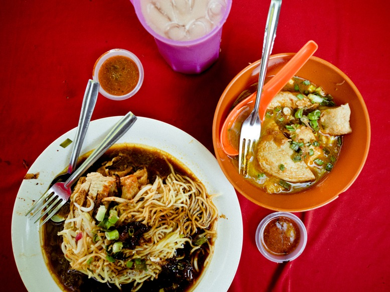 The famous mee kicap in Ipoh