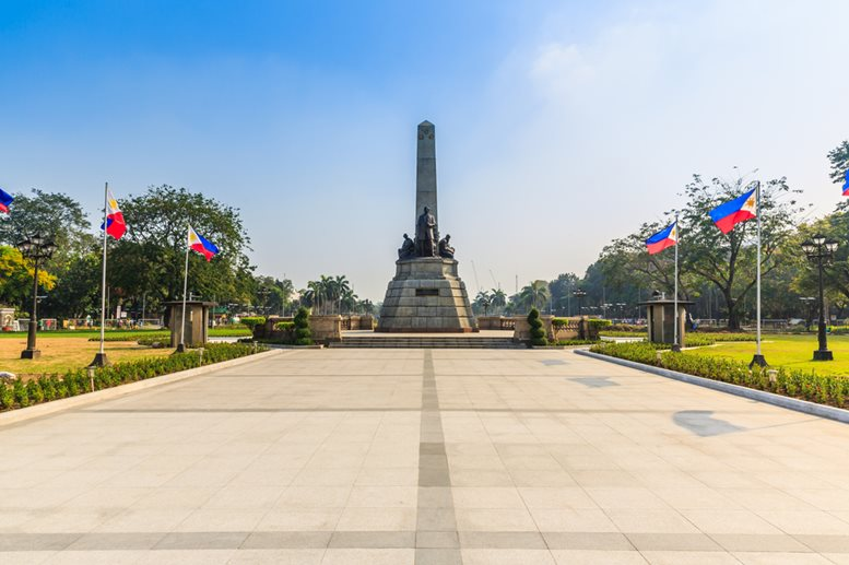The monument dedicated for Jose Rezal, he is widely considered the greatest national hero of the Philippines.