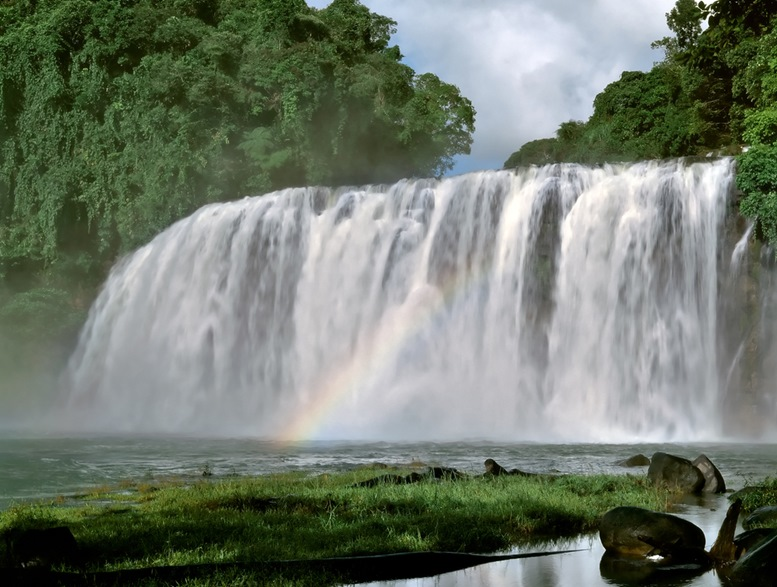The stunning Tinuy-an Falls near Bislig city on Mindanao island of Philippines