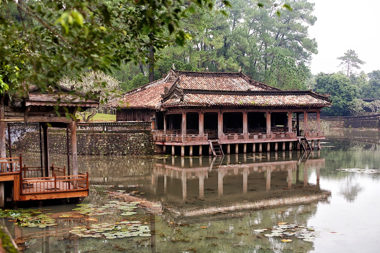 Tomb of Tu Duc constructed between 1864 and 1867, is the most popular, and one of the most impressive of the royal mausoleums, Hue, Vietnam