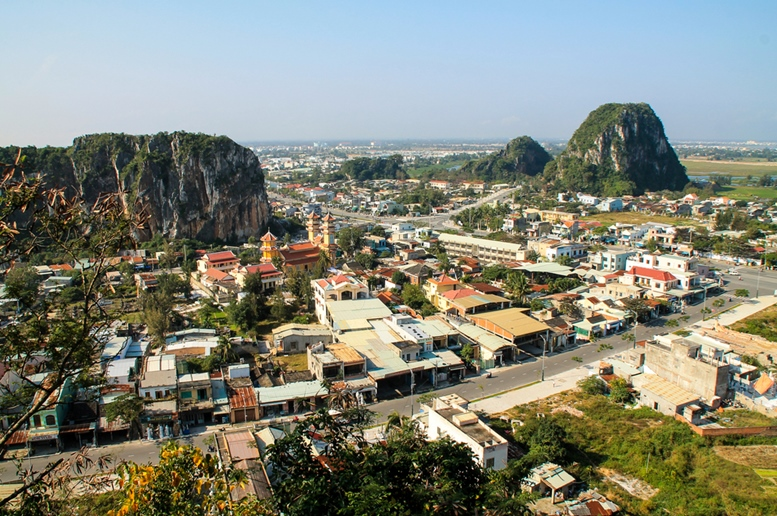 View of Da Nang City from Marble Mountains.