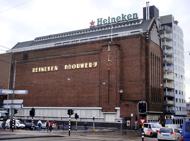 View of the Heineken Brewery or Heineken Experience