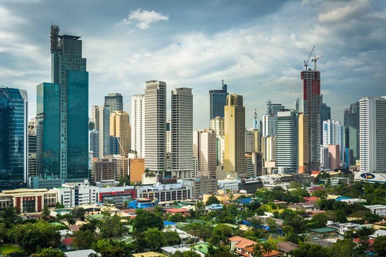 Top 10 places to visit in manila philippines and why view of the skyline of makati in metro manila the philippines sciox Image collections