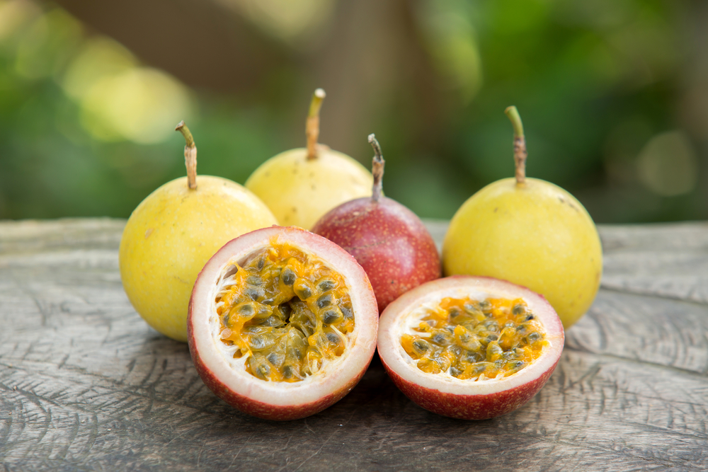 Yellow and Purple Passion Fruit