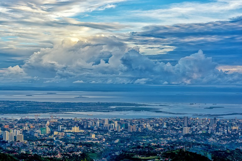 beautiful bird view of the Cebu city