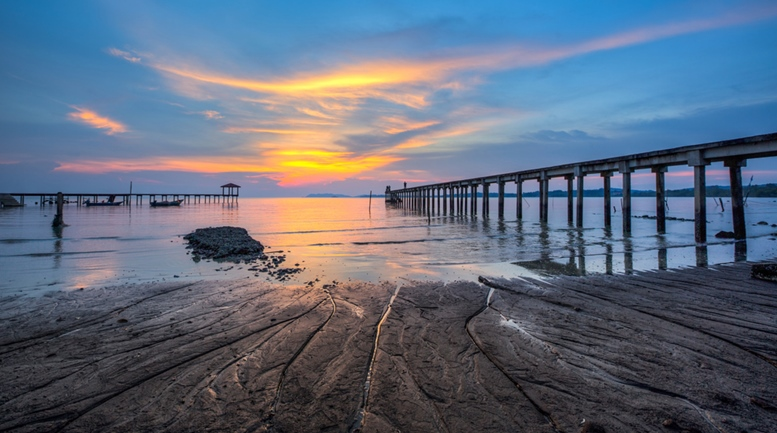 fishing jetty in Port Dickson, Malaysia