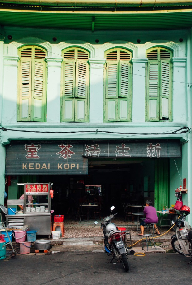 traditional kopitiam cafe in Chinatown, George Town, Penang, Malaysia