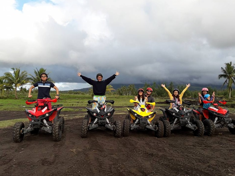 Abegail Veloso. The clouds may have ruined the Mayon Volcano backdrop but the fun of ATV is as priceless as the scenic view of the landscape.