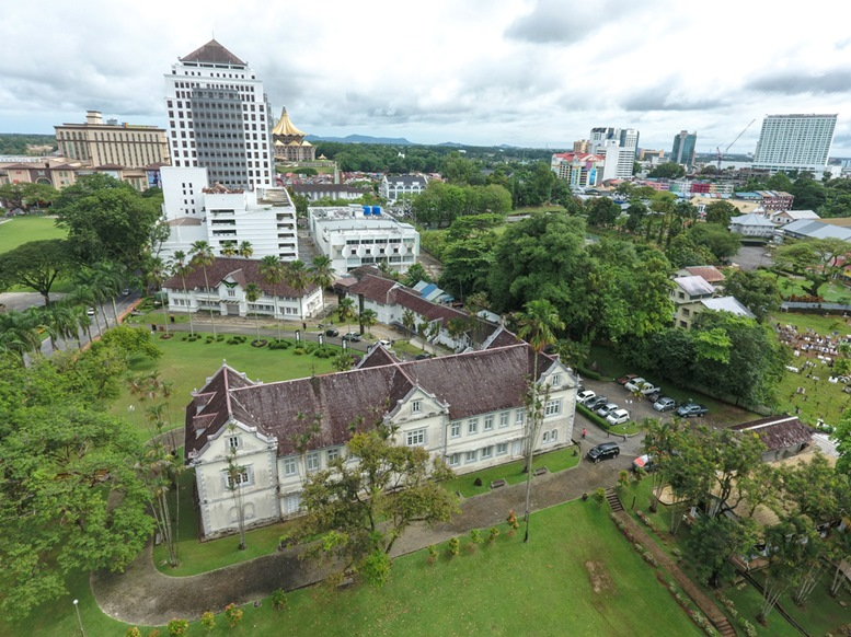Aerial view of the Sarawak Museum